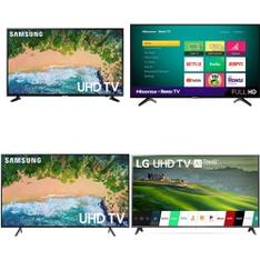 5 Pcs – LED/LCD TVs – Refurbished (GRADE A) – Samsung, LG, HISENSE, Onn