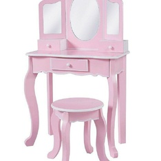 25 Pcs – Teamson Kids Vanity Playset & Stool – Pink – New – Retail Ready