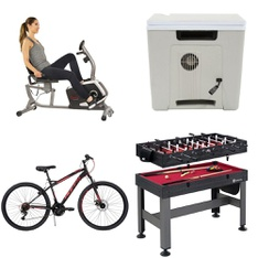 Pallet – 9 Pcs – Unsorted, Exercise & Fitness, Cycling & Bicycles – Customer Returns – Huffy, Movelo, PHAT, GoZone
