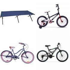 Pallet – 13 Pcs – Camping & Hiking, Cycling & Bicycles – Customer Returns – North 49, Movelo, Hyper Bicycles, Columbia
