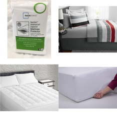 Pallet – 40 Pcs – Covers, Mattress Pads & Toppers, Comforters & Duvets – Customer Returns – Mainstay's, Mainstays, Sertapedic, Aller-Ease