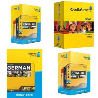 40 Pcs – Rosetta Stone Software – Like New, Used, Open Box Like New, New, New Damaged Box – Rosetta Stone