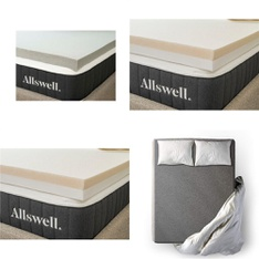 Pallet – 12 Pcs – Covers, Mattress Pads & Toppers – Customer Returns – Allswell, Ayer Comfort