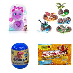 Pallet - 572 Pcs - Action Figures, Stuffed Animals, Pretend & Dress-Up, Not Powered - Customer Returns - Stikbot, Mattel, Pomsies, Marvel