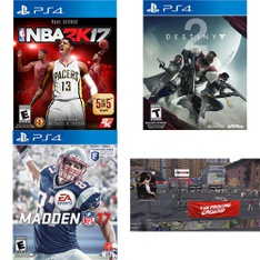 27 Pcs – Sony Video Games – New – NBA 2K17 (PS4), Madden NFL 17 Standard Edition, (PS4), NBA 2K18 (PS4), Destiny 2 (PS4)