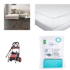 3 Pallets - 74 Pcs - Covers, Mattress Pads & Toppers, Comforters & Duvets, Pressure Washers, Hardware - Customer Returns - Mainstay's, American Textile, Better Homes & Gardens, Select Surfaces