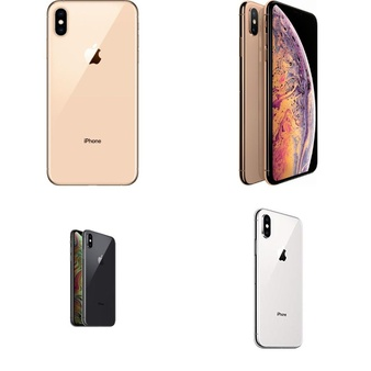 9 Pcs – Apple iPhone Xs Max – Refurbished (GRADE A – Unlocked) – Models: MT5C2LL/A, MT592LL/A, MT5F2LL/A, MT5A2LL/A