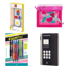 51 Pcs - Office Supplies - New, Like New, Open Box Like New, Used - Retail Ready - Paper Mate, Moleskine, Lego, Mead