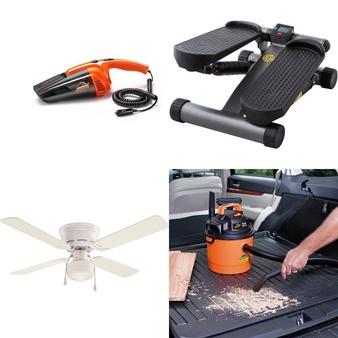 Pallet – 132 Pcs – Lighting & Light Fixtures, Vacuums, Camping & Hiking, Hardware – Customer Returns – Armor All, Mainstays, Ozark Trail, Mainstay's