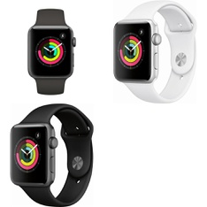 8 Pcs – Apple Watch -Series 3 – 42MM – GPS – GRADE D – Models: MR362LL/A, MTF32LL/A, MTF22LL/A