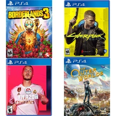 137 Pcs - Sony Video Games - New, Open Box Like New, Used, Like New - Borderlands 3 (PS4), FIFA 20 Standard Edition (PS4), Cyberpunk 2077 (PS4), The Outer Worlds (PS4)