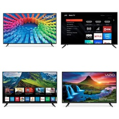 5 Pcs – LED/LCD TVs – Refurbished (GRADE C, GRADE D) – VIZIO, JVC