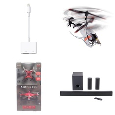 Pallet – 162 Pcs – Drones & Quadcopters Vehicles, Apple iPad, Speakers, Other – Customer Returns – Apple, Maximum, Onn, onn.