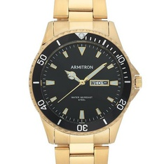 25 Pcs – Armitron 20/5394BKGPWM Men's Gold-Tone Watch – Like New – Retail Ready