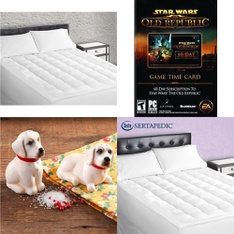 Pallet – 48 Pcs – Covers, Mattress Pads & Toppers, Kitchen & Dining, Gift / Prepaid / SIM & Activation Cards – Customer Returns – Sertapedic, Gibson Overseas, Electronic Arts, Serta