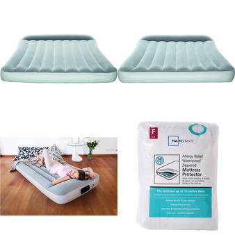 12 Pallets – 504 Pcs – Covers, Mattress Pads & Toppers, Camping & Hiking, Comforters & Duvets, Bedding Sets – Customer Returns – Mainstay's, Bestway, Aller-Ease, Better Homes & Gardens