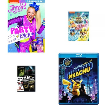 33 Pcs – Movies & TV Media – Open Box Like New, New – Retail Ready – Nickelodeon, Warner Brothers, Paramount Pictures, Warner Bros.