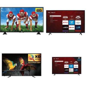 9 Pcs – LED/LCD TVs – Refurbished (GRADE A) – RCA, TCL, HISENSE, Samsung