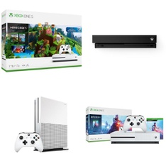 17 Pcs - Microsoft Xbox One Consoles - Refurbished (GRADE A) - Models: 234-00506, 234-00347, NJP-00024, CYV-00070