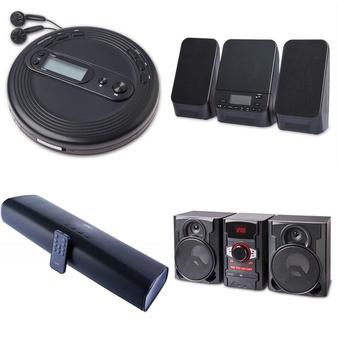 Pallet – 57 Pcs – Speakers, Receivers, CD Players, Turntables – Customer Returns – onn., Onn