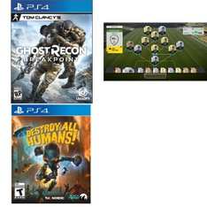 27 Pcs – Sony Video Games – Open Box Like New, Used, New, Like New – Tom Clancy's Ghost Recon Breakpoint PlayStation 4, Destroy All Humans! (PlayStation 4), Fifa 17 : PS3