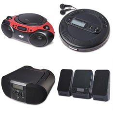 Pallet - 205 Pcs - Accessories, Boombox, Receivers, CD Players, Turntables - Customer Returns - onn., Onn, Monster, One For All