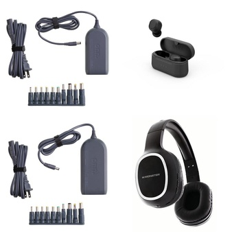 Pallet – 320 Pcs – Other, Over Ear Headphones, Power Adapters & Chargers, Keyboards & Mice – Customer Returns – Onn, onn., Anker, Monster