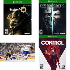 244 Pcs - Microsoft Video Games - Like New, New, New Damaged Box - Fallout 76 (XB1), NHL 18 (XB1), Dishonored 2 - Xbox One Standard Edition, Control (Xbox One)