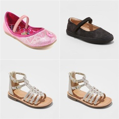 150 Pcs - Girl's Shoes - New - Retail Ready - Cat & Jack, Shimmer & Shine, Nina, Bloch