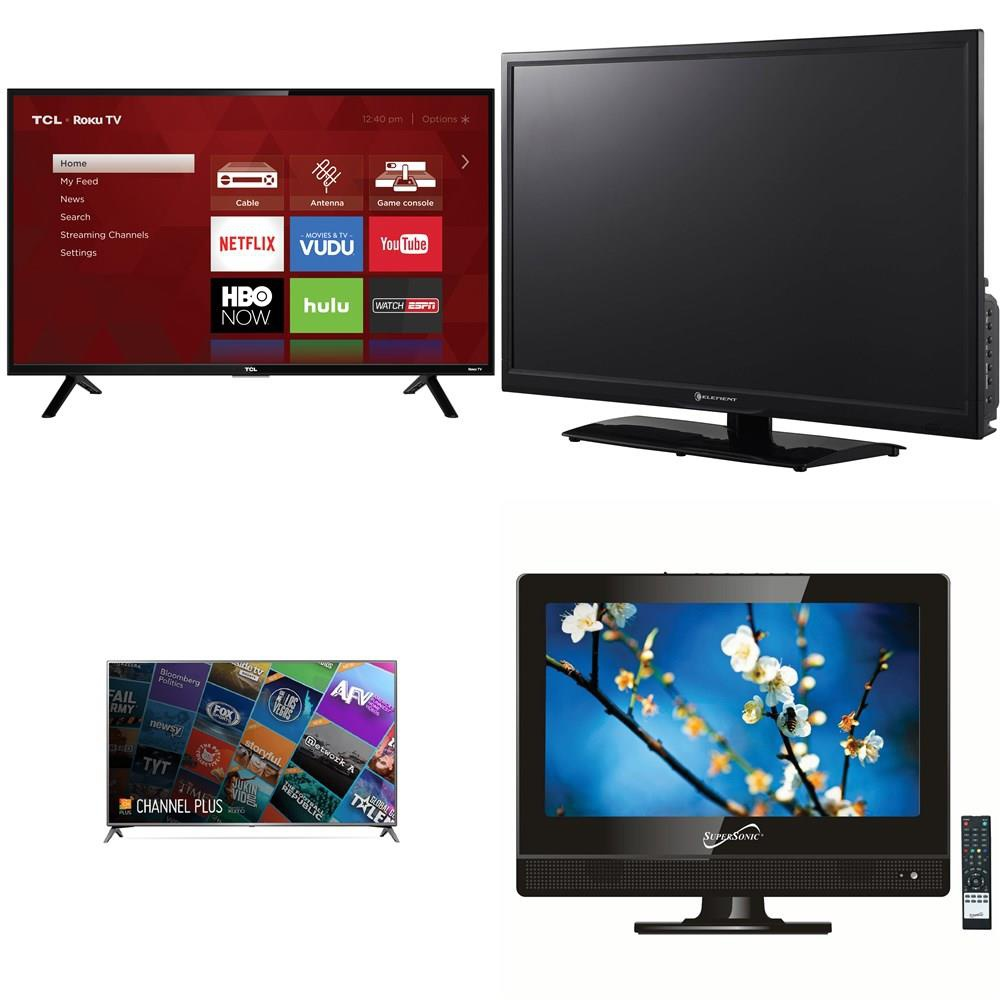 37 Pcs - TVs - Tested Not Working - TCL, VIZIO, SCEPTRE, Samsung -  Televisions