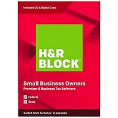 112 Pcs - H&R Block 1116600-19 Premium & Business Tax Software 2019, Traditional Disc - New - Retail Ready