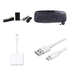3 Pallets – 748 Pcs – Accessories, Other, Chargers, Keyboards & Mice – Customer Returns – Onn, Blackweb, Apple, Logitech