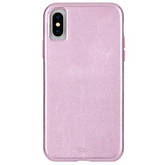 26 Pcs - Case-Mate CM037954 iPhone XS Case - BARELY THERE LEATHER - iPhone 5.8 - Metallic Blush Leather - New, New Damaged Box, Open Box Like New - Retail Ready