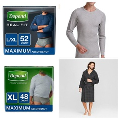 64 Pcs - Underwear & Socks - New - Retail Ready - Depend, Evolve by 2(X)Ist, CHAMPION , Fruit of the Loom
