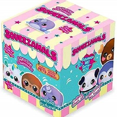 39 Pcs - Squeezamals 2.5 Inch Squishable Boxed Scented Pets Series 1 Blind Box Stocking Stuffer Birthday Favor - Like New, New - Retail Ready