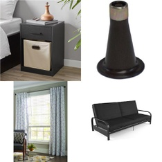 6 Pallets - 143 Pcs - Bedroom, Curtains & Window Coverings, Kids, Living Room - Customer Returns - Mainstay's, Big Joe, Select Surfaces, Better Homes and Garden