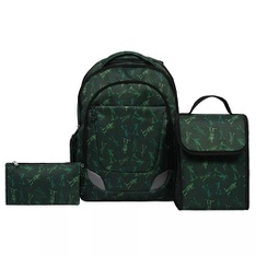 14 Pcs - Crckt Youth SC19-3PC-ARMY 3 Piece Backpack Set with Lunch Kit and Matching Pencil Bag - New - Retail Ready