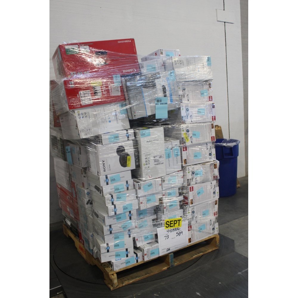 Pallet - 85 Pcs - Projector, DVD & Blu-ray Players, All-In-One, Speakers -  Customer Returns - RCA, Onn, Canon, Blackweb