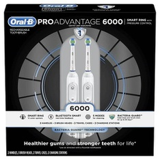 15 Pcs – Oral-B 83529286 ProAdvantage 6000 Power Rechargeable Toothbrush, 2-Pack – New – Retail Ready