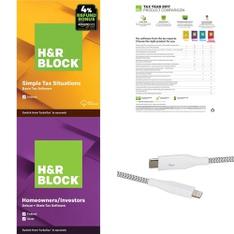 3 Pallets – 1015 Pcs – Other, Software, Blu-ray Discs, Power Adapters & Chargers – Customer Returns – H&R Block, Blackweb, Onn, Kaz