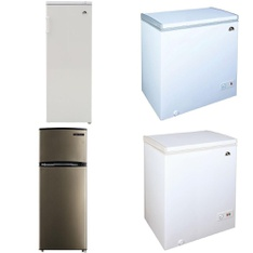 Pallet – 4 Pcs – Freezers, Refrigerators – Customer Returns – CURTIS INTERNATIONAL LTD, Energy Star