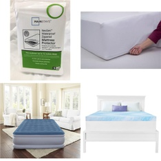 Pallet – 33 Pcs – Covers, Mattress Pads & Toppers – Customer Returns – Mainstays, Dream Serenity, Beautyrest, Aller-Ease