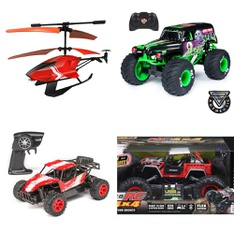 3 Pallets – 79 Pcs – Toys – Vehicles, Trains & RC, Vehicles, Action Figures – Customer Returns – New Bright, Adventure Force, Sky Rover, Huffy