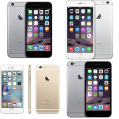 6 Pcs - Apple iPhone 6 - Refurbished (GRADE A - Unlocked) - Models: NG4W2LL/A, MG5Y2LL/A, MG4P2LL/A, 3A021LL/A