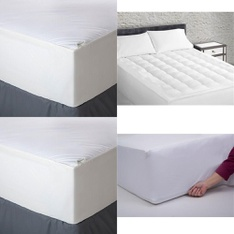 Pallet – 56 Pcs – Covers, Mattress Pads & Toppers, Comforters & Duvets, Pillows – Customer Returns – Aller-Ease, Mainstays, Mainstay's, AllerEase