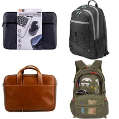 23 Pcs - Backpacks, Bags, Wallets & Accessories - Like New, Open Box Like New, Used, New - Retail Ready - Case Logic, Outdoor Products, Blackweb, HP