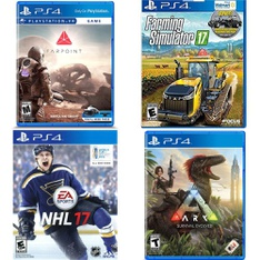 61 Pcs - PS4 Video Games - Used, Like New, New, Open Box Like New - SONY COMPUTER ENTERTAINMENT, EA, Maximum Family Games, Studio Wildcard