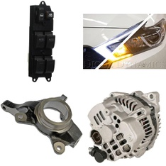 30 Pcs - Automotive Parts and Accessories - Used, Like New - Retail Ready - Toyota, Dorman, TYC, Acura