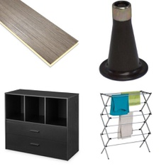 26 Pcs - Home Improvement -> Hardware, Furniture -> Bedroom, Home -> Curtains & Window Coverings, Furniture -> TV Stands, Wall Mounts & Entertainment Centers - Customer Returns - Mainstay's, Select Surfaces, Better Homes & Gardens, Beautyrest