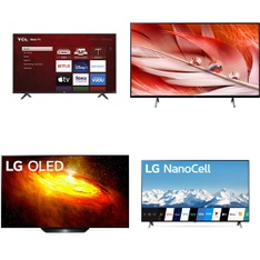 12 Pcs - LED/LCD TVs - Refurbished (GRADE A, GRADE B) - VIZIO, LG, Samsung, TCL